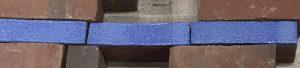Geglazuurde blauwe klinker