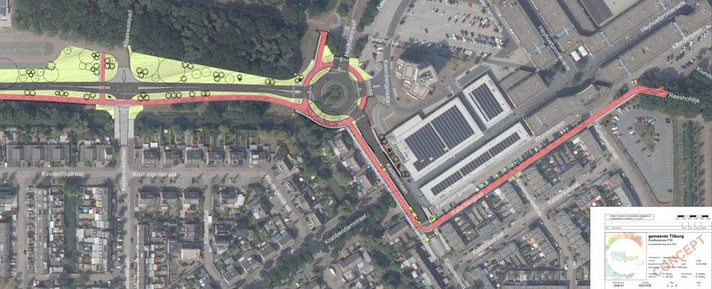 Ontwerp van het fietspad voor de Campenhoefdreef, Kasterenlaan en Kalenbergpad