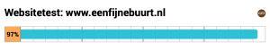 Test van internet.nl met een score van 97%