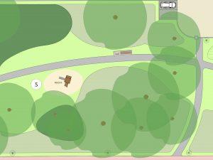Een van de groene plekken met wandel en speel voorzieningen