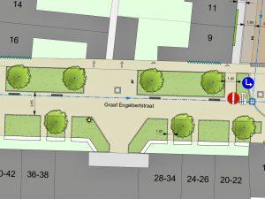 Ontwerp van een plein in de Graaf Engelbertstraat