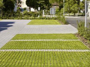 Voorbeeld van groene parkeerplekken
