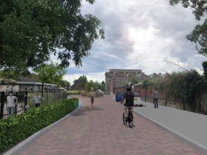 Visualisatie van het ontwerp voor de Lange Nieuwstraat