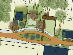 Ontwerp van het groen in en rondom het Lumenplantsoen
