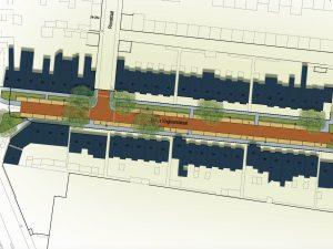 Foto van het ontwerp voor de Philips Vingboonsstraat