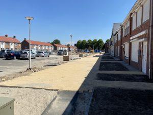 Aanleg van de boulevard op het nieuwe Pater van den Elsenplein
